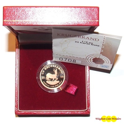 2008 Gold Proof 1/4oz KRUGERRAND